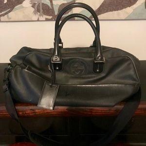 Authentic Black Gucci Travel Bag